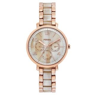 Fossil Women's ES3921 Jacqueline Multi-Function Beige Dial Two-Tone Bracelet Watch
