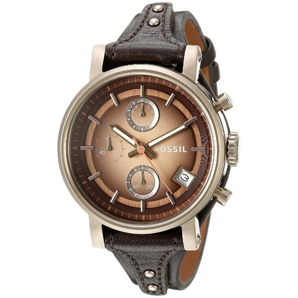 303771996bc Fossil Women  x27 s Original Boyfriend Chronograph Brown Dial Brown Leather  Watch