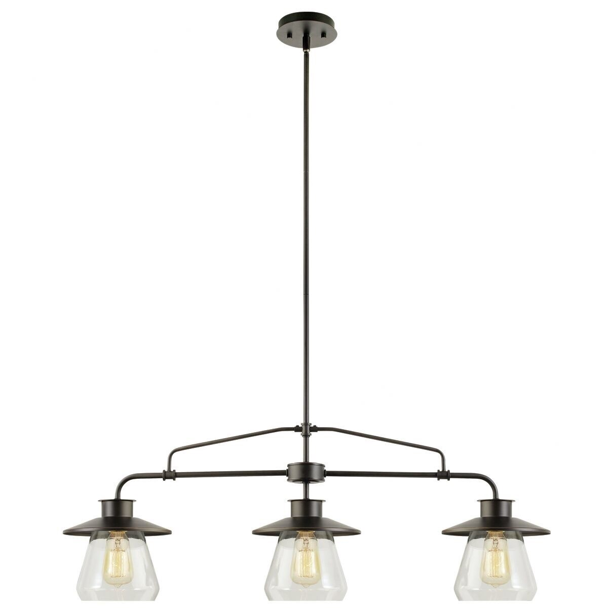 Warehouse of Tiffany Angela 3-light Black Steel 40-inch E...
