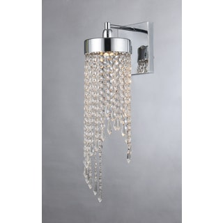 Sarah 1-light Chrome 7-inch Crystal Wall Lamp