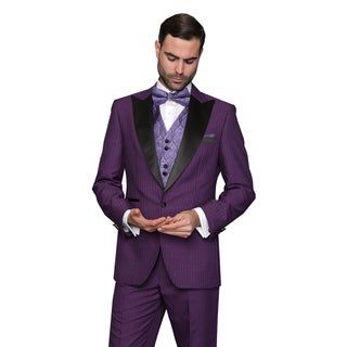 Natalie Purple Men's Statement Suit Tuxedo