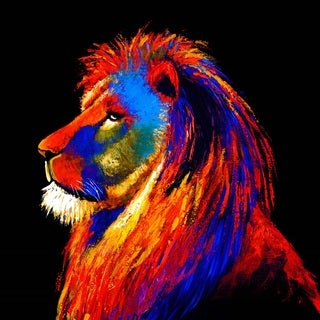 Selections by Chaumont Majestic Lion Glass Art