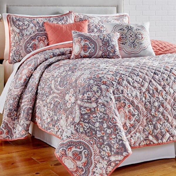 Amraupur Overseas Selena 6 piece Printed Reversible Quilt Set