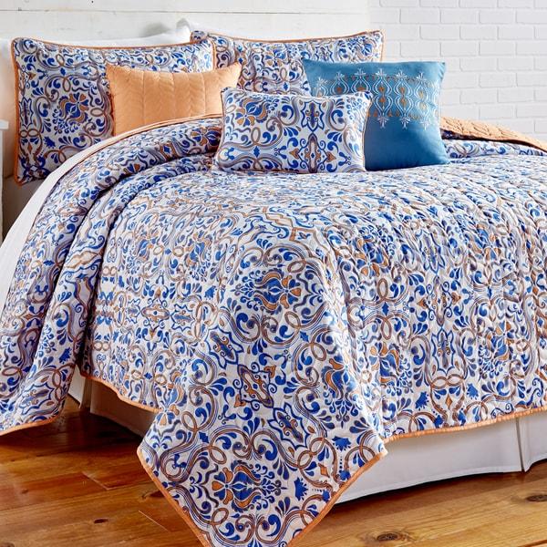 Amraupur Overseas Lauretta Printed Reversible 6-piece Quilt Set