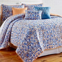 Amraupur Overseas Lauretta Printed Reversible 6-piece Quilt Set