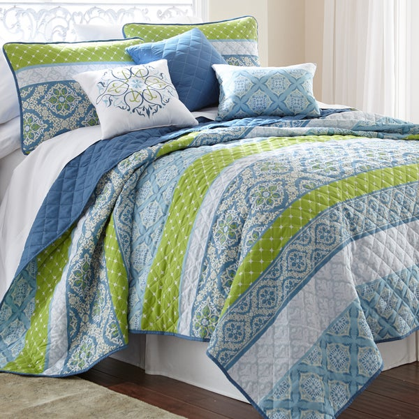 Amraupur Overseas Sheila Printed Reversible 6-piece Quilt Set