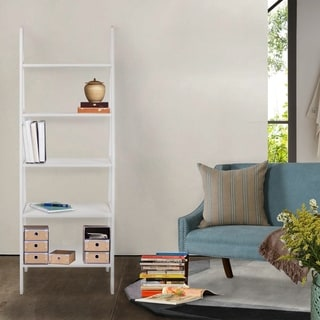 Porch & Den Longfellow Peterson 5-shelf Ladder Bookcase