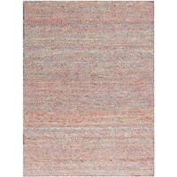 Hand-Woven Brisbane Modern Multicolor Wool Rug - Blue - 4' x 6'