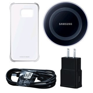 Samsung Wireless Black Charging Pad with Protective Cover for Galaxy S6 in Retail Packaging