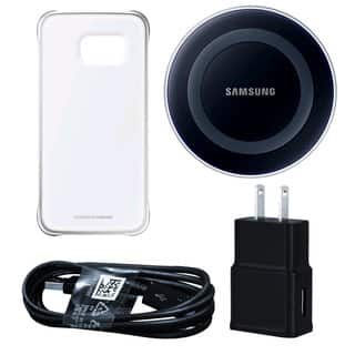 Samsung Wireless Black Charging Pad with Protective Cover for Galaxy S6 Edge in Retail Packaging|https://ak1.ostkcdn.com/images/products/11002532/P18021374.jpg?impolicy=medium