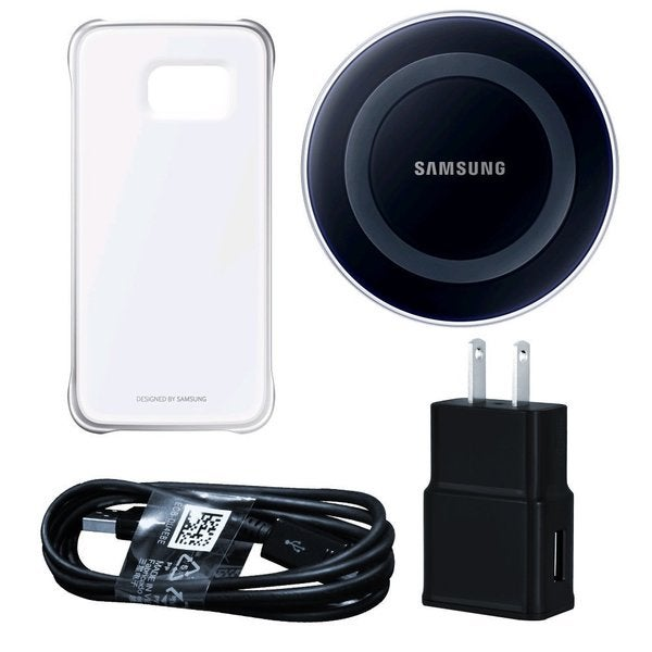 Samsung Wireless Black Charging Pad with Protective Cover for Galaxy S6 Edge in Retail Packaging