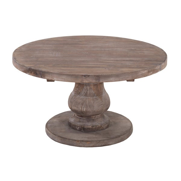 Carolina Reclaimed Wood Round Coffee Table By Kosas Home