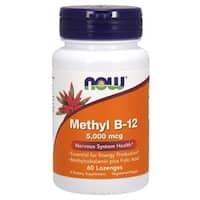 Now Foods Methyl B-12 5000 MCG (60 Lozenges) - Orange
