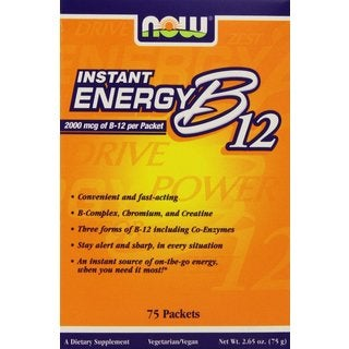 Now Foods Instant Energy B12 2000 MCG (75 Packets)