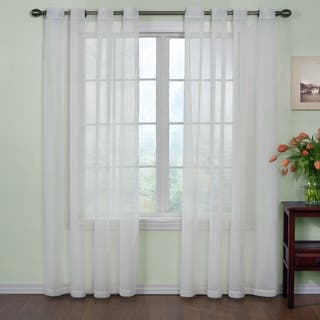 White 108 Inches Sheer Curtains Online At Our Best Window Treatments Deals