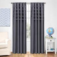Eclipse Kids Ruffle Batiste Blackout Curtain Panel