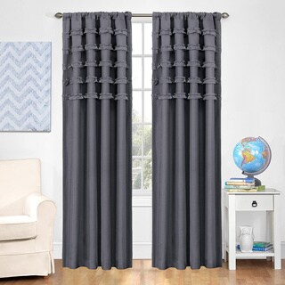 Eclipse Kids Ruffle Batiste Blackout Curtain Panel