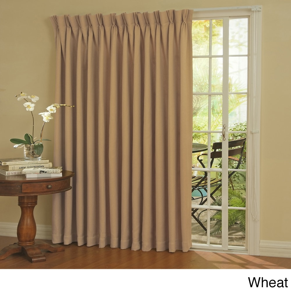 Eclipse Thermal Blackout Patio Door Curtain Panel (100 x ...