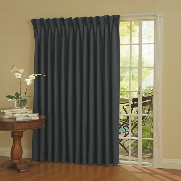 Eclipse Thermal Blackout Patio Door Curtain Panel Free