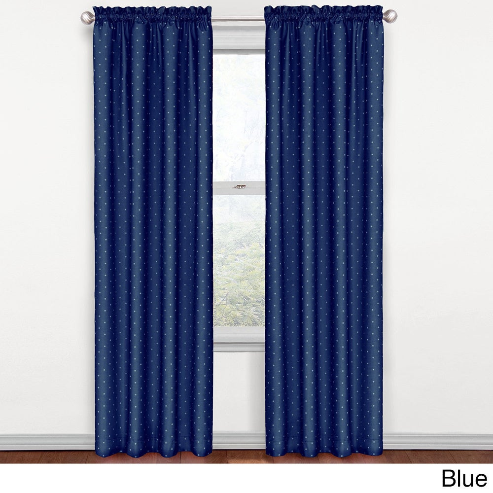 exceptional Polka Dot Curtains Panels Part - 10: Eclipse-Kids-Polka-Dots-Blackout-Window-Curtain-Panel-