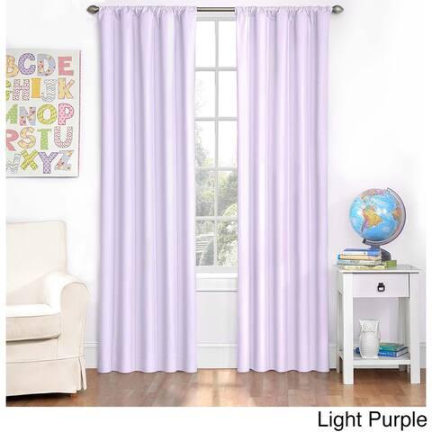 Eclipse Kids Microfiber Blackout Single Curtain Panel