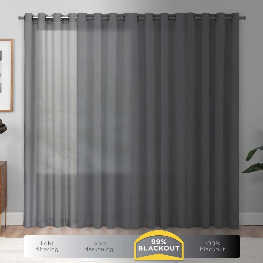 Shop Eclipse Kids Microfiber Blackout Single Curtain Panel - 11002718