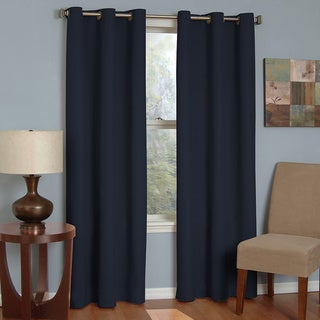 Eclipse Microfiber Grommet Blackout Window Curtain Panel