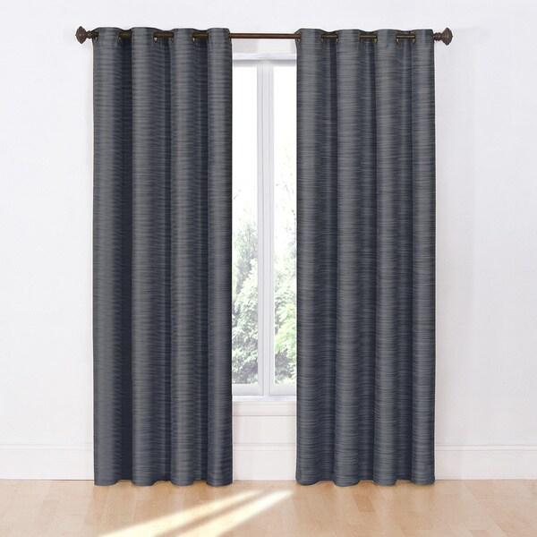 Eclipse Deron Blackout Grommet Curtain Panel Free