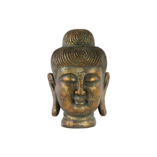 Fiberstone Buddha Head with Rounded Ushnisha