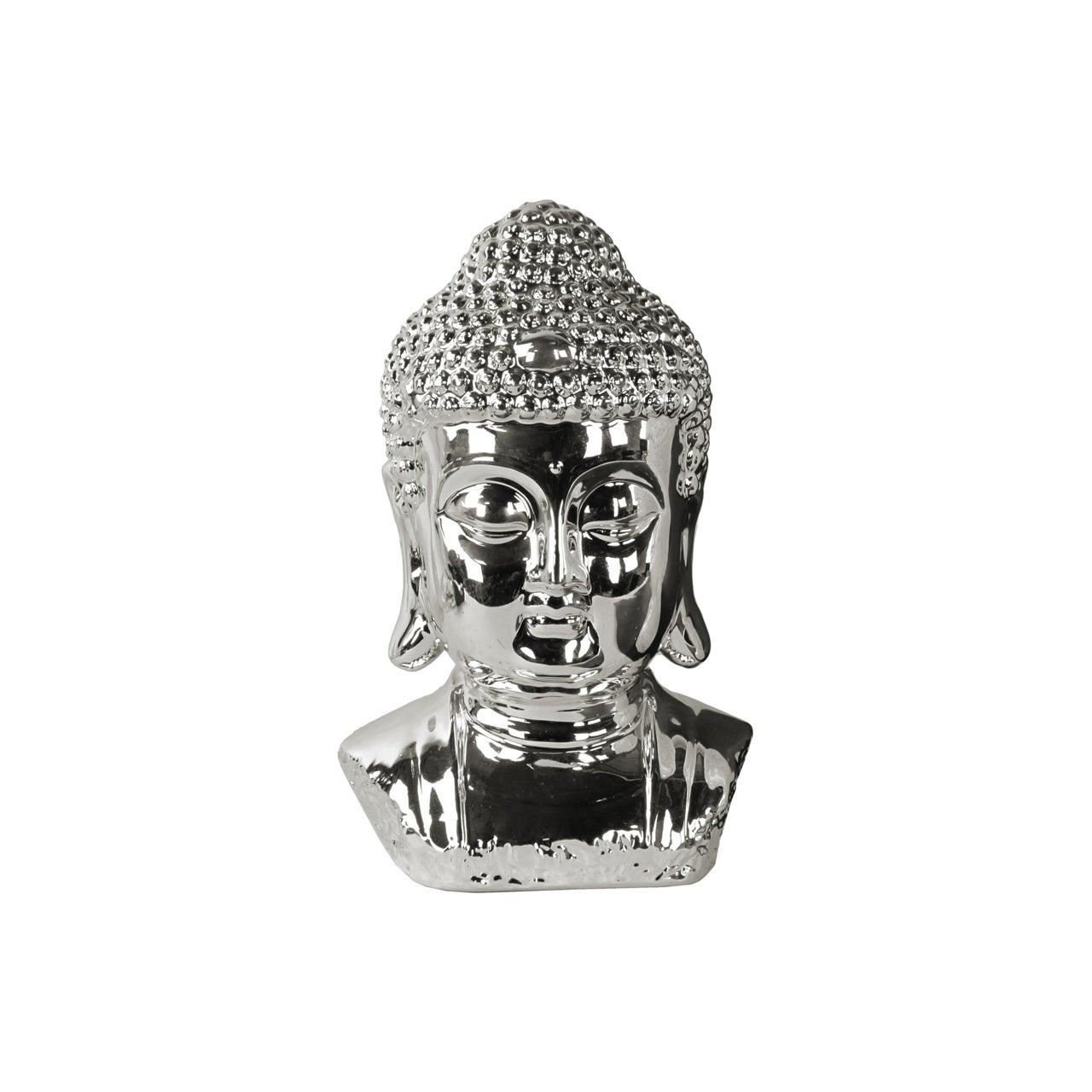 Urban Trend Ceramic Polished Chrome Finish Silver Buddha ...