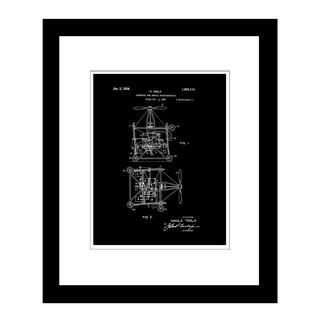 Prestige Art Studios Flying Machine Tesla Framed Print