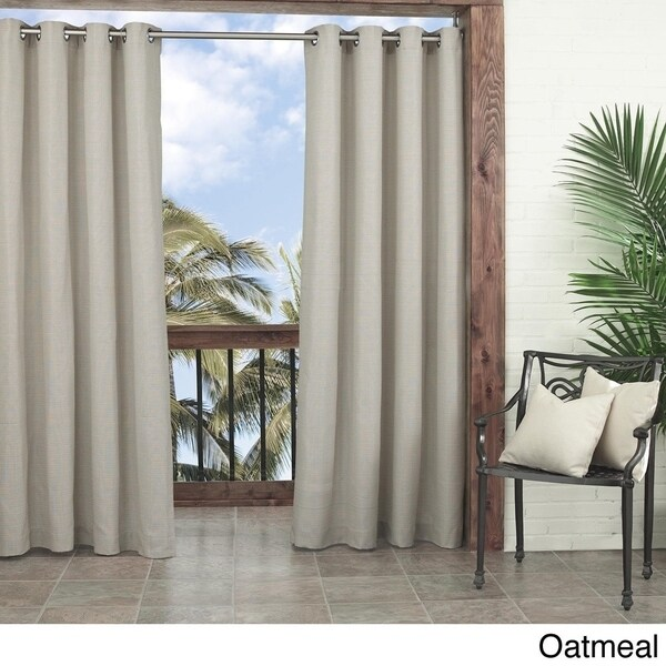 Parasol Key Largo Solid Indoor Outdoor Curtain Panel