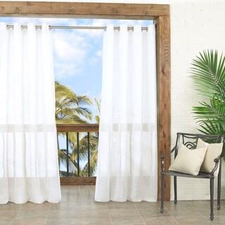 Summerland Key Sheer Indoor/Outdoor Curtain Panel