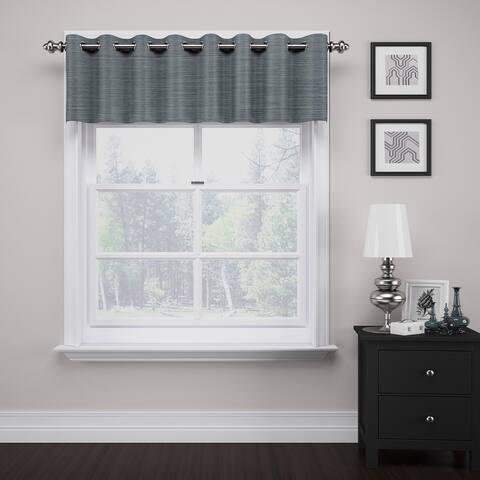 Eclipse Deron Blackout Grommet Window Valance - 52x18