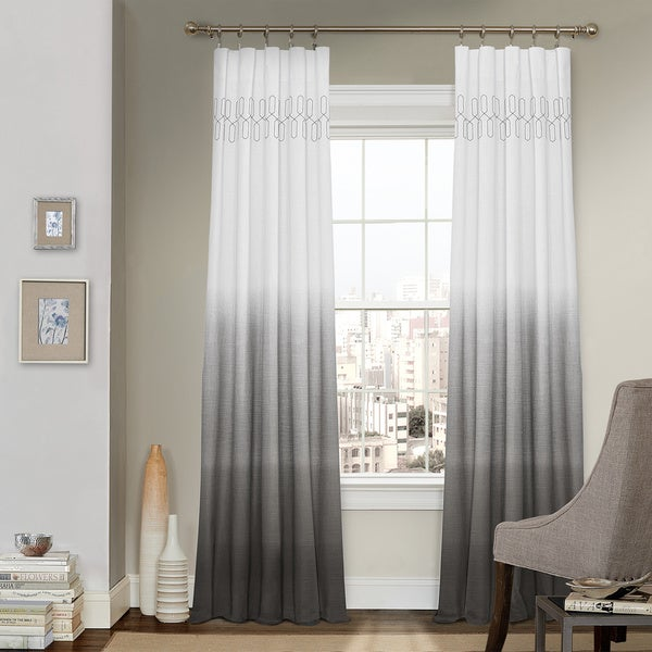 Arashi Ombre Embroidery Curtain Panel