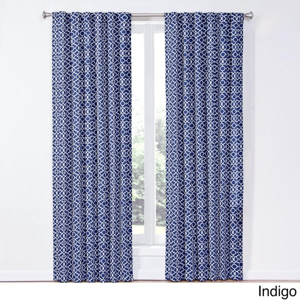charming Waverly Lovely Lattice Curtain Part - 2: Waverly Lovely Lattice Rod-Pocket Curtain Panel with Tieback