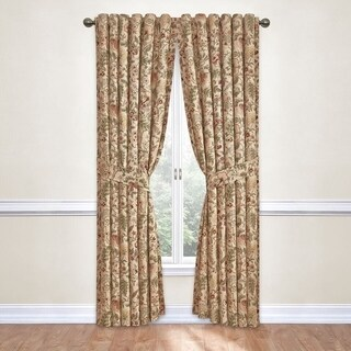 Waverly Imperial Dress Cotton Rod-pocket Curtain Panel with Tieback
