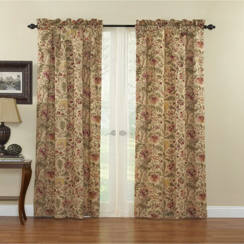 Waverly Imperial Dress Window Panel with Tie Back - 42X84