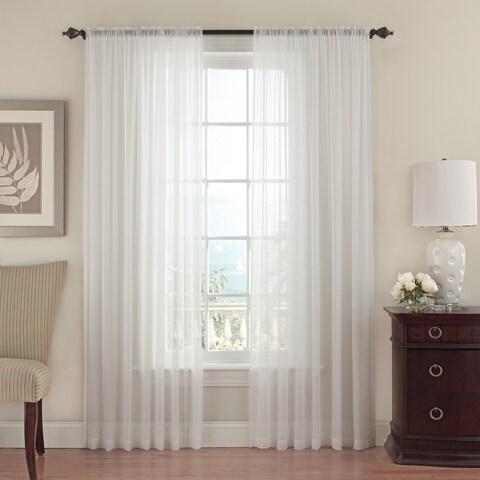 Beautyrest Textured Chiffon Window Curtain Panel