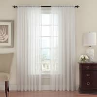 Beautyrest Textured Chiffon Window Curtain Panel