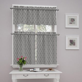 Traditions by Waverly Strands Tier and Valance Set