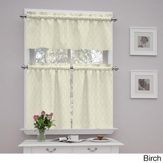 Traditions by Waverly Strands Tier and Valance Set (Option: Birch - 52X36)