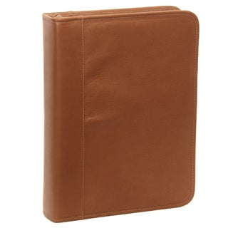 Piel Leather Three-Ring Binder (Option: Black)