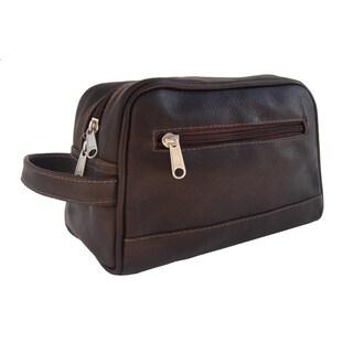 Piel Leather Top Zip Toiletry Kit