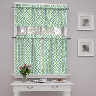Traditions by Waverly Make Waves Tier and Valance Set