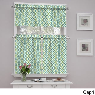Traditions by Waverly Make Waves Tier and Valance Set (3 options available)