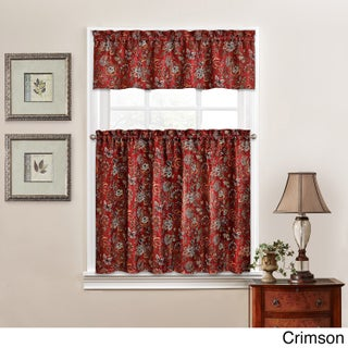 Traditions by Waverly Navarra Floral Tier and Valance Set (4 options available)