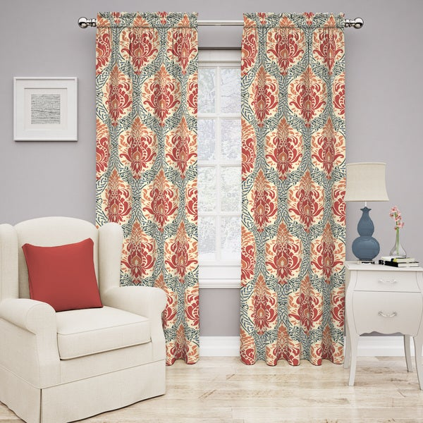 Traditions by Waverly Dressed Up Damask Curtain Panel