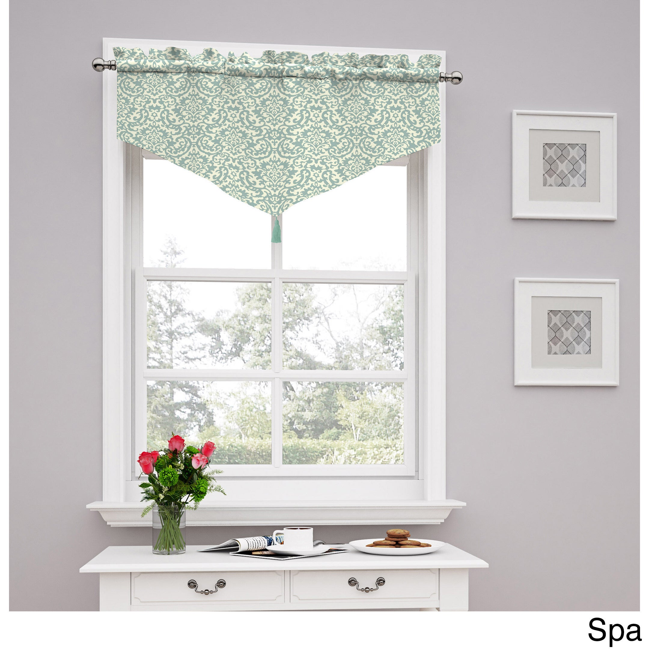 Traditions by Waverly Duncan Damask Window Valance (52x21...