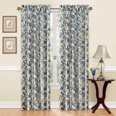 Traditions by Waverly Navarra Floral Curtain Panel - 52x84